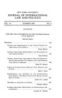 New York University Journal of International Law   Politics