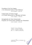 Proceedings of the First Congress