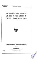 Background Information on the Soviet Union in International Relations
