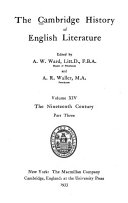 The Cambridge History of English Literature  The nineteenth century Book