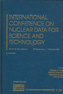 International Conference on Nuclear Data for Science and Technology