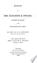 Memoir of Mrs  Elizabeth B  Dwight