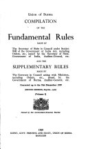 Compilation of the Fundamental Rules Made by the Secretary of State in Council Under Section 96B of the Government of India Act Book PDF