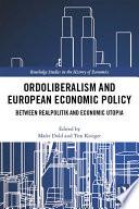Ordoliberalism And European Economic Policy