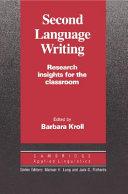 Second Language Writing  Cambridge Applied Linguistics