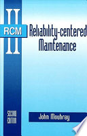 """Reliability-centered Maintenance"" by John Moubray"