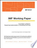 From Basel I to Basel III: Sequencing Implementation in Developing Economies