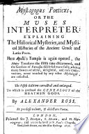 Mystagogus poeticus  or the Muses Interpreter     The fifth edition corrected and enlarged  etc Book