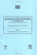 Automatic Systems for Building the Infrastructure in Developing Countries 2003 (knowledge and Technology Transfer)