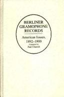 Berliner Gramophone Records