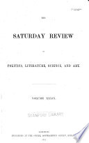 The Saturday Review Of Politics Literature Science And Art Book PDF