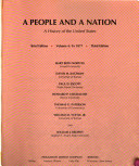 A People and a Nation  To 1877 Book