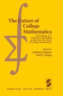 The Future of College Mathematics Pdf/ePub eBook