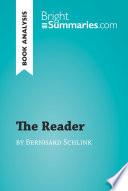 The Reader by Bernhard Schlink  Book Analysis