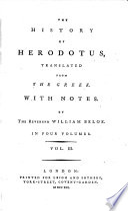 The history of Herodotus, History English