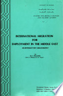 International Migration for Employment in the Middle East