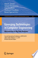 Emerging Technologies in Computer Engineering  Microservices in Big Data Analytics