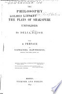 The Philosophy of the Plays of Shakspere Unfolded Book PDF