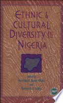 Ethnic and Cultural Diversity in Nigeria Book
