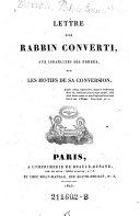 Lettre D'un Rabbin Converti