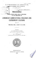 Proceedings Of The Annual Convention Of The Association Of American Agricultural Colleges Experiment Stations