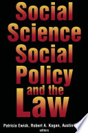 Social Science Social Policy The Law
