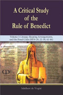 A Critical Study of the Rule of Benedict
