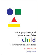 Pdf Neuropsychological Evaluation of the Child Telecharger