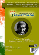 The International Journal Of Indian Psychology Volume 3 Issue 4 No 60