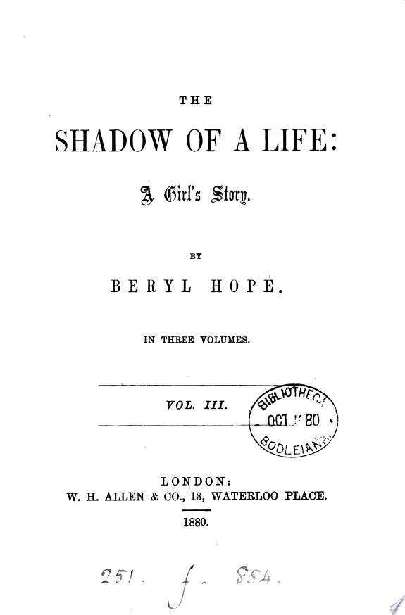 The shadow of a life