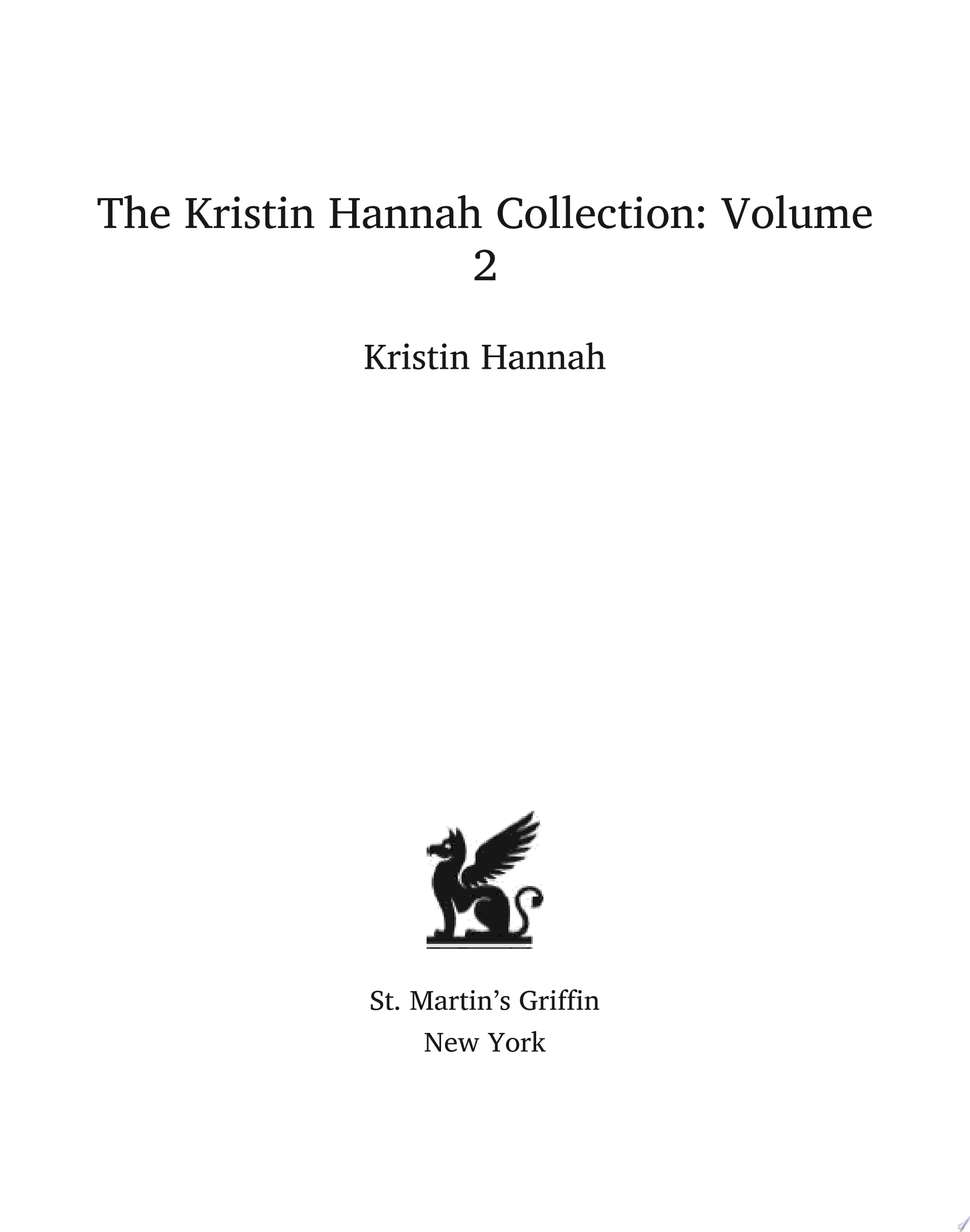 The Kristin Hannah Collection  Volume 2