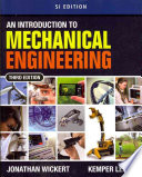 Cover of An Introduction to Mechanical Engineering, SI Edition