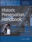 Historic Preservation Handbook Book PDF