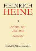 Gedichte 1845-1856. Kommentar