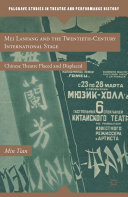 Pdf Mei Lanfang and the Twentieth-Century International Stage