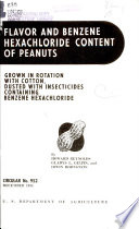 Flavor and Benzene Haxachloride Content of Peanuts Grown in Rotation with Cotton, Dusted with Insecticides Containing Benzene Hexachloride