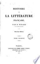 Histoire de la Littérature française, 1