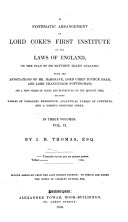 A Systematic Arrangement of Lord Coke's First Institute of the Laws of England ebook