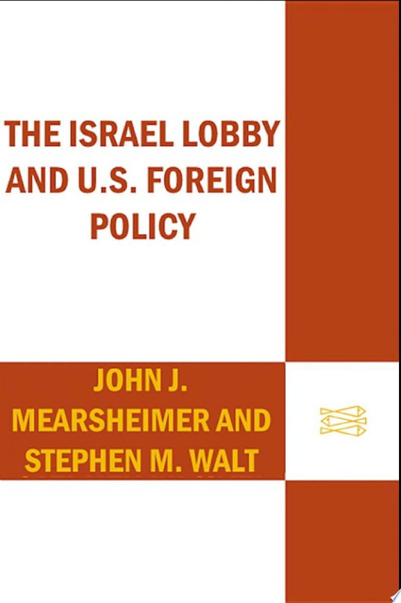 The Israel Lobby and U.S. Foreign Policy banner backdrop