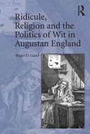 Pdf Ridicule, Religion and the Politics of Wit in Augustan England