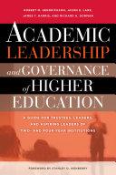 Academic Leadership and Governance of Higher Education [Pdf/ePub] eBook