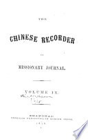 The Chinese Recorder and Missionary Journal Book PDF