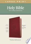 NLT Large Print Thinline Reference Bible  Filament Enabled Edition  Red Letter  Leatherlike  Berry