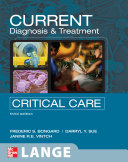CURRENT Diagnosis and Treatment Critical Care  Third Edition