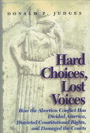 Hard Choices  Lost Voices Book