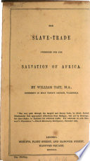 Slave Trade Overruled For The Salvation Of Africa