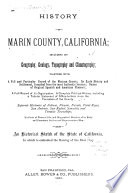 History of Marin County, California