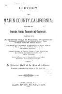 History Of Marin County California