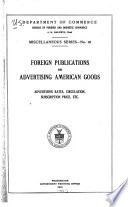 Foreign Publications for Advertising American Goods