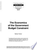 The Economics of the Government Budget Constraint